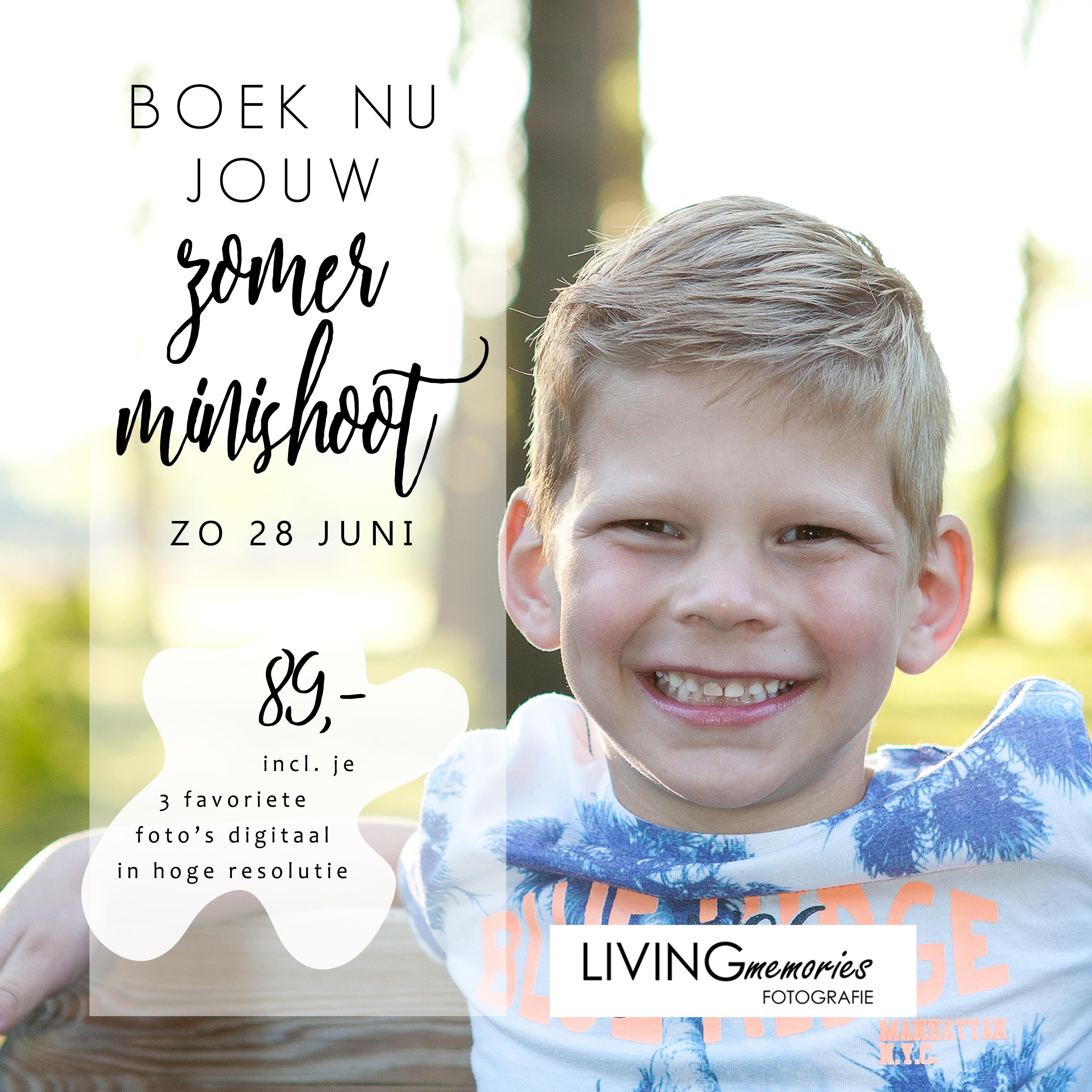 MiniZomerfotoshoots Nieuwkoop LIVINGmemories fotografie